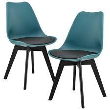 en casa stuhl 2x design stühle esszimmer türkis kunststoff kunst leder stuhl set kaufen otto