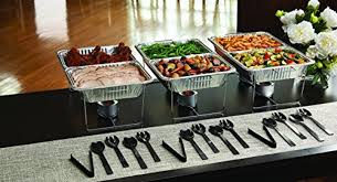 Food Buffet Party Event Serving Aluminum Pan Chafing Dishes Utensils Package