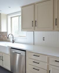 how to cover tile backsplash with beadboard
