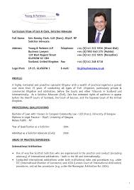 Cv Resume Example Pdf Curriculum Vitae Format For Lawyers Lawyer Template