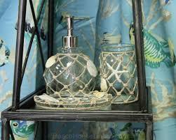 beach glass bath accessories beach house linens