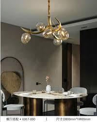 licht luxus post moderne kupfer zweig kristall kronleuchter französisch wohnzimmer esszimmer le amerikanischen minimalistischen designer villa