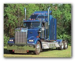 100 Kenworth Semi Trucks Amazoncom Construction Truck Wall Decor Picture 1993 Blue