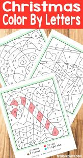 Christmas Color By Letters Worksheets On Tires Html Fun Free Kids