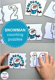 Snowman Counting Puzzles