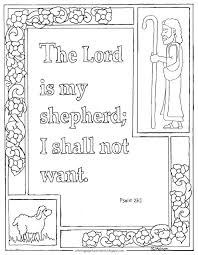 Coloring Pages For Kids By Mr Adron Printable Psalm 231