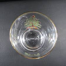 Spode Christmas Tree Glasses by Spode Christmas Tree Holiday Rounded Gold Rim Tumbler Cocktail Glass