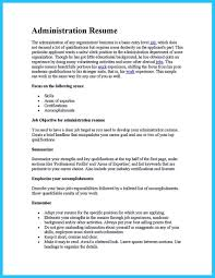 Sample Business Administration Resume