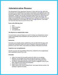 Sample Business Administration Resume