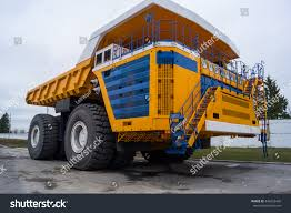 100 Haul Truck Ultraclass Copy Space Background Stock Photo