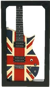 Guitar Wall Art Metal Union Jack Home Decor