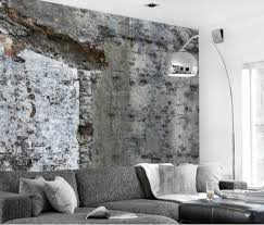 Ideas For Wall Decoration Wandtepate Concrete Look Living Room