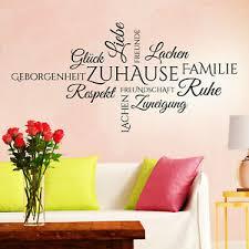 details zu wandtattoo zuhause wortwolke familie spruch modern wohnzimmer deko idee schön