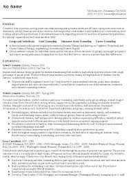 Mental Health Resume Examples Top Counseling
