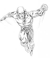 The Reverse Flash Coloring Pages 1