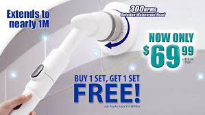 turbo scrub new zealand cordless hand held powerful spin scrubber