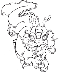 Chinese Dragon Coloring Page For Pages
