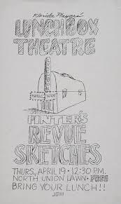 Florida Players Lunchbox Theatre Poster Announcing Pinters Revue