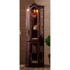Pulaski Corner Curio Cabinet 20206 by Lighted Corner Curio Cabinet Golden Oak Best Cabinet Decoration