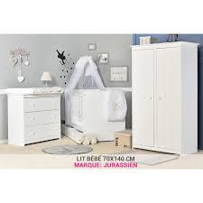 chambre b b complete evolutive chambre bébé blanche avec lit 70x140 et tiroir achat vente