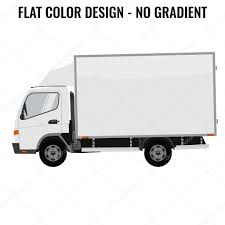 Vector Small Truck Front Side. Cargo Delivery. Flat Color — Stock ...