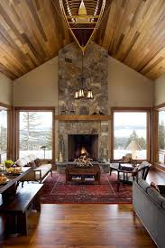 Mor Furniture Boise for a Rustic Living Room with a Dark Wood