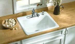 white cast iron kitchen sink white drop in enameled cast iron