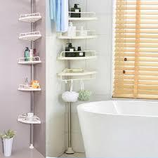 neufu 5 schicht badezimmer dusche bad ecke lagerregal wandregal pole aufbewahrung