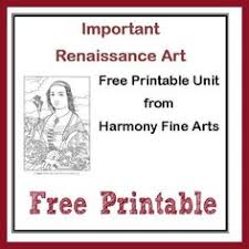 Harmony Fine Arts Renaissance Art Printable Unit Mini Book Coloring Pages