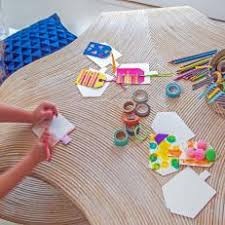 Kids Hanukkah Craft Table