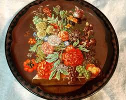 Daher Decorated Ware 11101 by Daher Ware Oval Decorative Tray Daher Decorated Ware