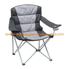 [Hot Item] Portable Padded Folding Chair For Outdoor Camping Fishing With  Armrest Cup Holder Carrying Case Induced
