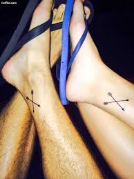Simple Arrow Tattoo Below Ankle Photo