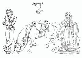 Dibujo De Rapunzel Y Flynn Rider Para Colorear De La Película
