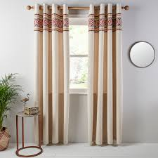 Fabric Curtains John Lewis by Buy John Lewis Lima Border Lined Eyelet Curtains John Lewis