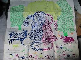This Craft Involves The Cutting Of An Intricate Stencil Depicting Scenes From Life Lord Krishna And Use Paper