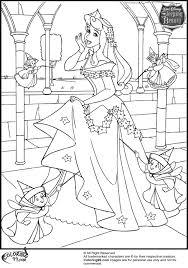 Princess Aurora Coloring Pages Disney Team Colors Non Free
