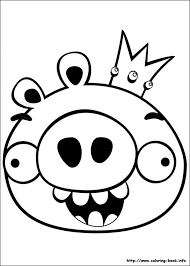 Angry Birds Coloring Pages On Book Inside Color