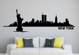 wandaufkleber skyline new york wohnzimmer schlafzimmer city stadt wandtattoo