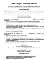 Data Analyst Resume Example Download