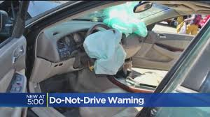 Feds Warning Drivers To Park Cars Due To Takata Airbag Recall « CBS ...