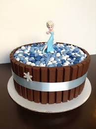 Cakes Decorated With Candy by Frozen Theme Kit Kat Cake My Cakes Pinterest Kit Kat Cakes