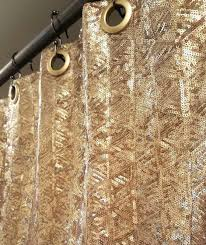 Gold And White Curtains Target by Zoom Shower Curtain Gold Coast Bathroom Decor Goldfish Shower
