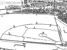 Baseball Field Coloring Page Free Printable Pages