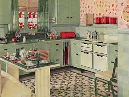 Rustic Red Green Kitchen 2