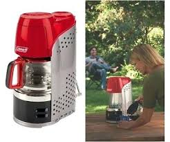 Coleman Camping Coffee Maker Pot Portable Outdoor Hiking Coffeemaker Cups New