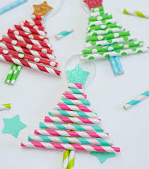 Strawberry Stick Christmas Trees For DIY Kids Paper Crafts