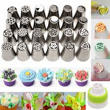 Cakes Decorated With Russian Tips by 24pcs Russian Icing For Cake Decorating Supplies Piping Tips 1pcs