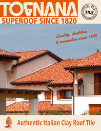 authentic italian clay roof tile tognana industrie e fornaci