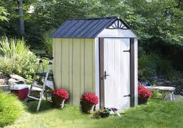 Rubbermaid Tool Shed Instructions by Arrow Designer Series Metro 4 Ft 6 In W X 6 Ft 5 In D Metal
